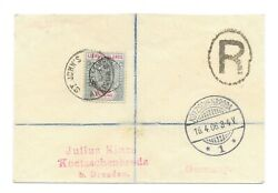 Leeward Islands 1906 Cover To Germany With 1897 Jubilee 1s Superb Cancel Candpound3300