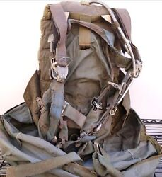 Us Military Parachute Bag Backpack Harness Ripstop