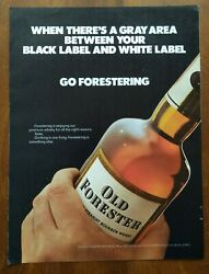 1973 Old Forester Bourbon Whiskey Bottle Photo Go Forestering Vintage Print Ad