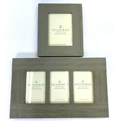 Pottery Barn 4 X 6 And 5x 7 Gallery Picture Frame Weathered Wood Farmhouse Style