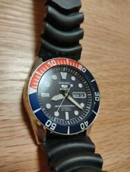 Seiko 5 Sports Divers 7s36-03s0 Automatic 23jewels Pepsi Mens Watch