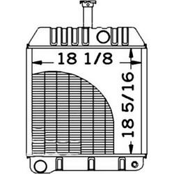 New 534229m95 Radiator Without Oil Cooler Fits Massey Ferguson Tractor 275