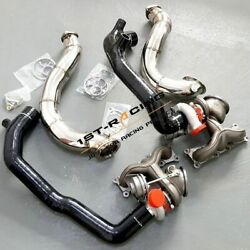For Bmw 335i 335xi 135i 535 N54 Td04 Billet 6+6 16t Turbos + Inlet Pipe Downpipe