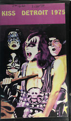 Kiss Detroit Vhs 1975very Rare Tape-tested-vintage Collectible-ships N 24 Hour