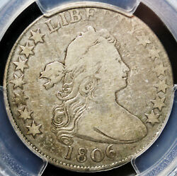 1806 Draped Bust Half Dollar Pcgs F12 O-110 No Crack Extremely Rare Only 3 Known