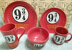Harry Potter Hogwarts Express Dinner Set - Plates Bowl And Mugs - Brand New