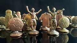 Vintage Official Set Chess Of Real Madrid Figures Brass Made Without Board