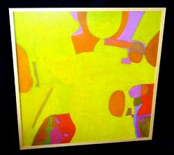 And03971 Us Modernist Bright Abstract Painting By John Kjargaard 1902-1992ahb