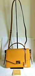 Michael Kors Cassie Medium Marigold Messenger Leather Satchel $118.15
