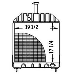New 219866 Radiator Fits Ford/fits New Holland Fits 555, 555c, 555d, 575d