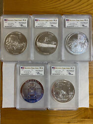 2010 Beautiful Parks Series Pcgs Ms69 Each Coin Is 5oz Silver Set Of 5 Coins