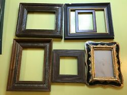 6 Antique Frames Wood Mcm Italy Gold Lot Variety Picture Art Frame Vintage Retro