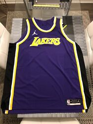 New Nike Jordan Los Angeles Lakers Blank Statement Authentic Jersey 58 3xl Rare