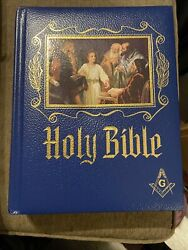 New 1971 Masonic Holy Bible Master Reference Edition Heirloom Red Letter Edition