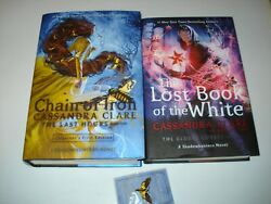 Signed Cassandra Clare Chain Of Iron And The Lost Book Of The White Us1/1 With Pin