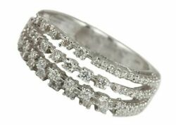 24x21x19 Mm Solid 18k White Gold Natural Pave Diamond Spinner Ring