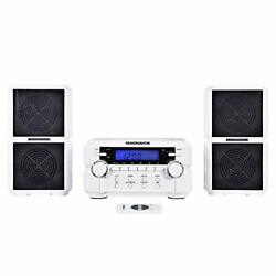 Magnavox Mm435-wh 3-piece Compact Cd Shelf System With Digital Am/fm Stereo Radi