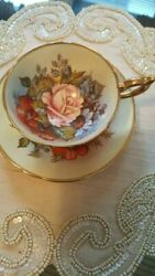 Aynsley Teacup And Saucer Signed