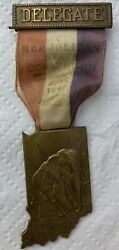 1948 Indiana State Convention Delegate Badge Gop