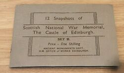 C1920 Souvenir Postcard Photo Book 12 Snapshots Of Edinburgh Castle War Memorial