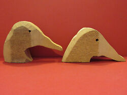 Rough Duck Decoy Head Blanks Vintage Cedar Canvasback Low And High Head One Price