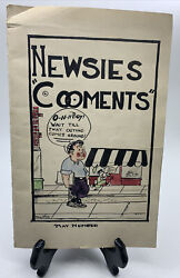 Antique Vintage Comic Book Hand Drawn And Colored 1921 - Newsies - Original
