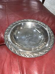Vintage Candy Nut Bowl Dish Wm. Rogers And Son -spring Flower 2048 Silverplate