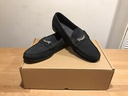 Weejuns G.h.bass Navy Suede Leather Loafer Moccasin Shoes Sizeuk12only