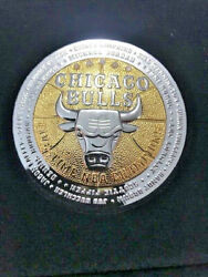 1997 Highland Mint Magnum Signature 5-time Champ Bulls Medallion Diamonds 2 Tone