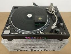 Complete New Technics Sl-1210m5g Direct Drive Turntable - Original - Wooden Base