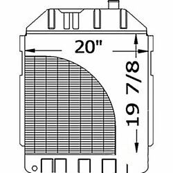 New 219801 Tractor Radiator Fits Ford/fits New Holland 5700 6700 - D6nn8005d