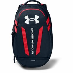 Under Armour Hustle 5.0 Backpack Academy Red White $37.50