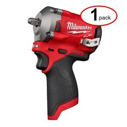 Milwaukee 2554-20 M12 Fuel Stubby 3/8 Impact Wrench Bare Certified Refurbished