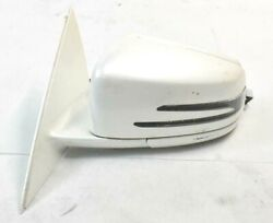 10-13 Mercedes W221 S400 Front Left Driver Side Mirror Door Rear View White Oem