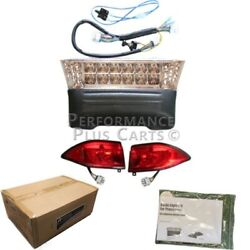Club Car Precedent Golf Cart Full Led Headlight Kit With Tail Lights 2004-up Gas