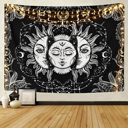 US Psychedlic Mandala Sun Face Hippie Tapestry Room Wall Hanging Throw Tapesty
