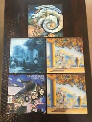 Lot Of 6 The Moody Blues Records - 2 The Present, Long, Live Double Lp, Question