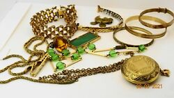 Various Rolled Gold And Gold Plated Chains Rings And Bracelets Etc