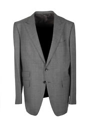 New Tom Ford O'connor Gray Checked Sport Coat Size 56 / 46r U.s. Fit Y Jacket...