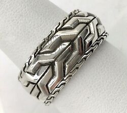 Sterling Silver John Hardy Classic Chain Asli Band Ring Size 10.5 $300.00
