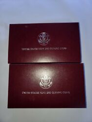 1992 United States Mint Olympic Coin Set 2 Coins Proof Box And Coa - Two Sets