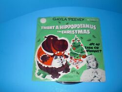 I Want A Hippopotamus For Christmas - Gayla Peevey - Vintage 78 Rpm Record J-186
