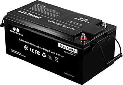 Zoogamo 12v 200ah Lifepo4 Deep Cycle Rechargeable Battery For Rv Solaroff-grid