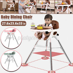 Baby Dining High Chair Seat Adjustable Height Child Feeding Portable Safe Strap