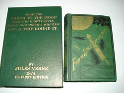 Jules Verne From The Earth To The Moon 1874 First Us Edition In Traycase