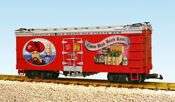 Usa Trains R16417a G Old Pirate Rum U.s. Refrigerator Cars Red/silver