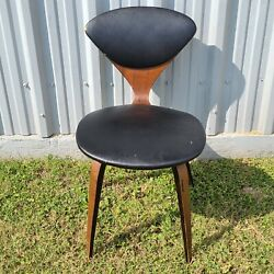 George Mulhauser Plycraft Side Chair Black With Original Labels See Pictures