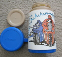 Retro The Power Rangers Aladdin Brand Thermos With Stopper Cup Mug Top