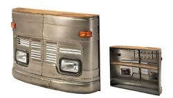 60 Funky Bus Home Bar With Bottle Rack And Stemware Rustic Industrial Bus Front