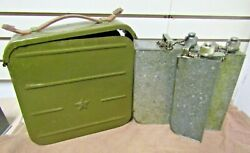 Vintage Chinese Surplus 7.62mm Mg Ammo Can W/squad Oiler Cans Rare